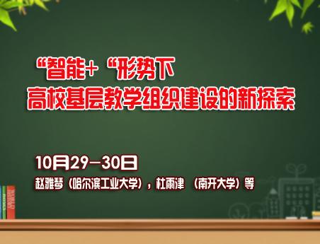 10.29 高校基层教学组织建设